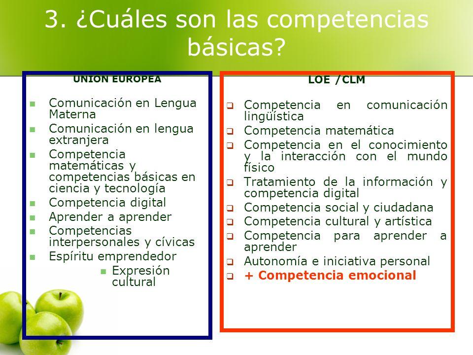 3. ¿Cuáles son las competencias básicas