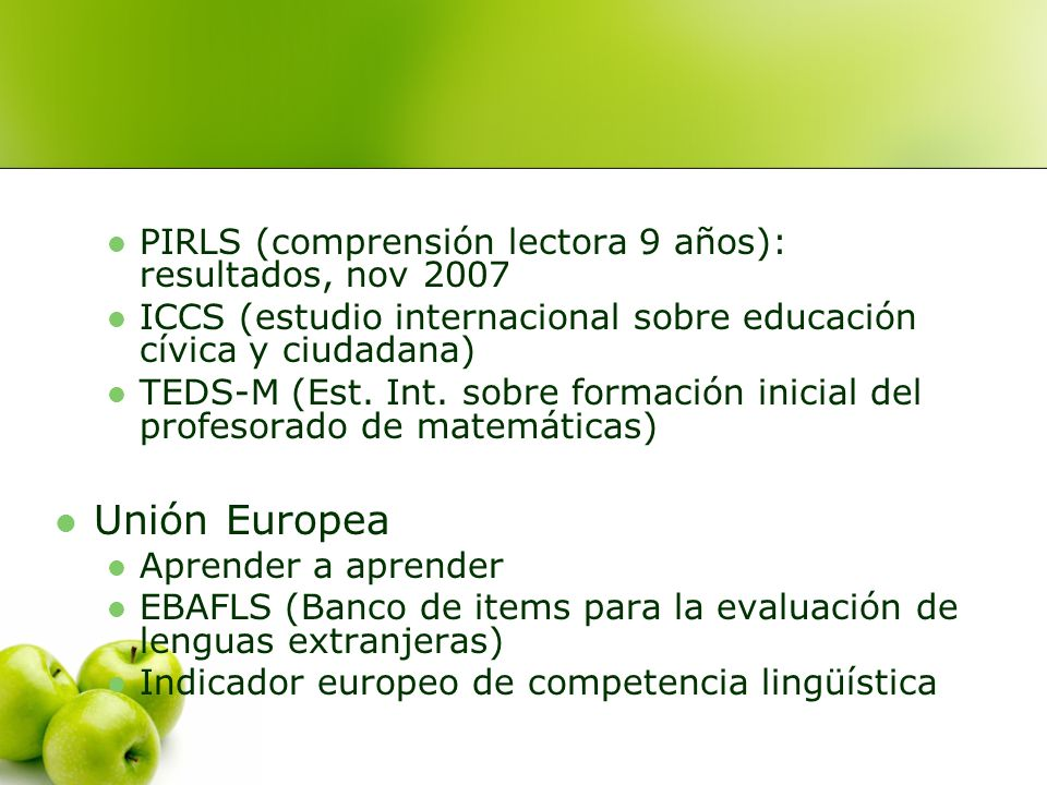 Unión Europea PIRLS (comprensión lectora 9 años): resultados, nov 2007