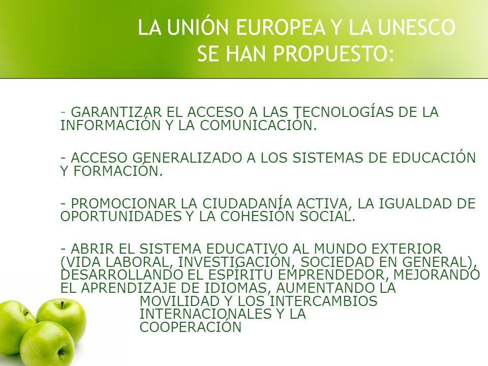 LA UNIÓN EUROPEA Y LA UNESCO