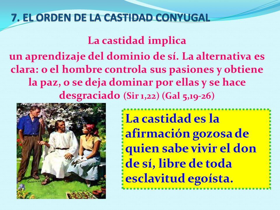 7. EL ORDEN DE LA CASTIDAD CONYUGAL