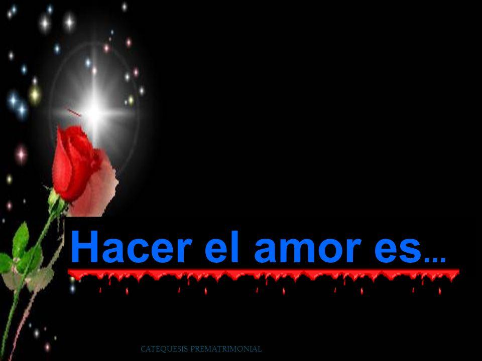 Hacer el amor es... CATEQUESIS PREMATRIMONIAL