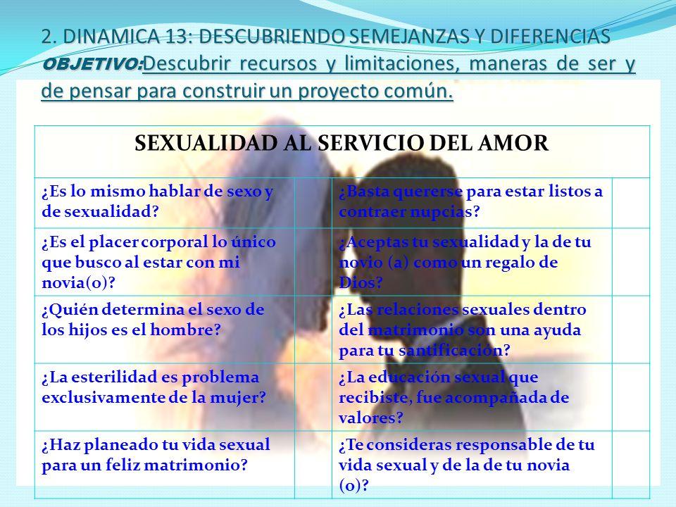 SEXUALIDAD AL SERVICIO DEL AMOR
