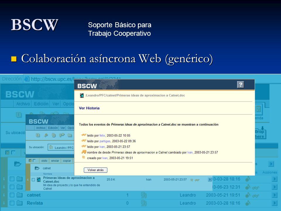 BSCW Colaboración asíncrona Web (genérico)