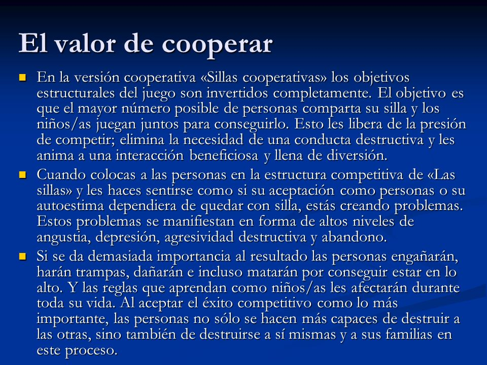 El valor de cooperar