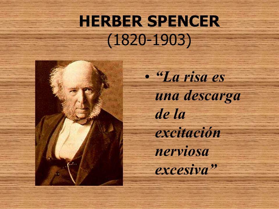HERBER SPENCER (1820-1903) La risa es una descarga de la excitación nerviosa excesiva
