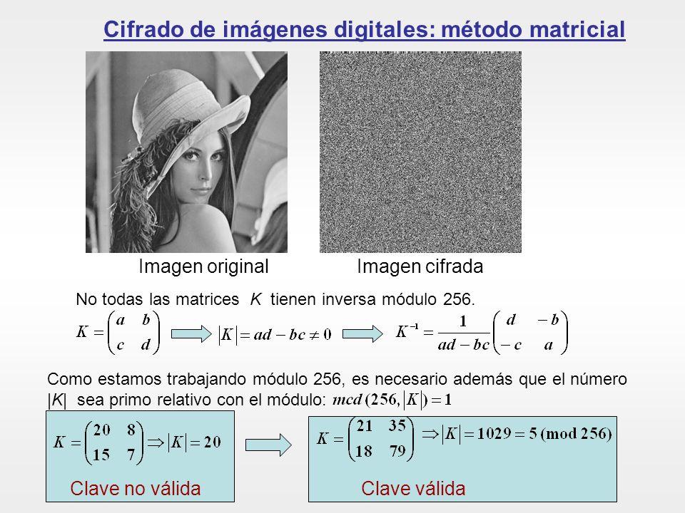 Cifrado de imágenes digitales: método matricial