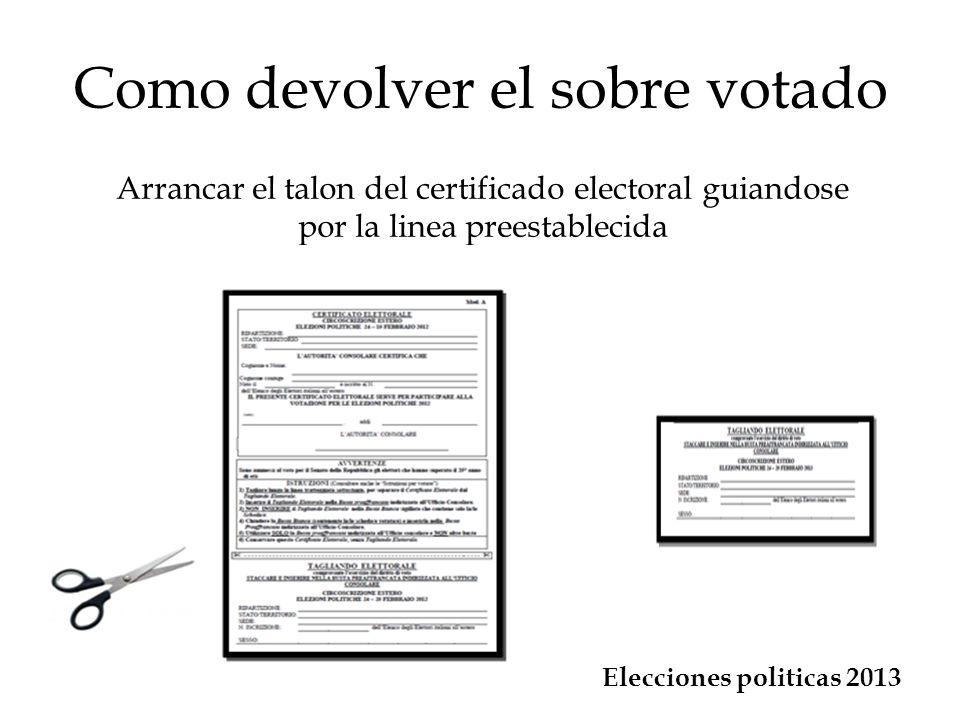 Como devolver el sobre votado