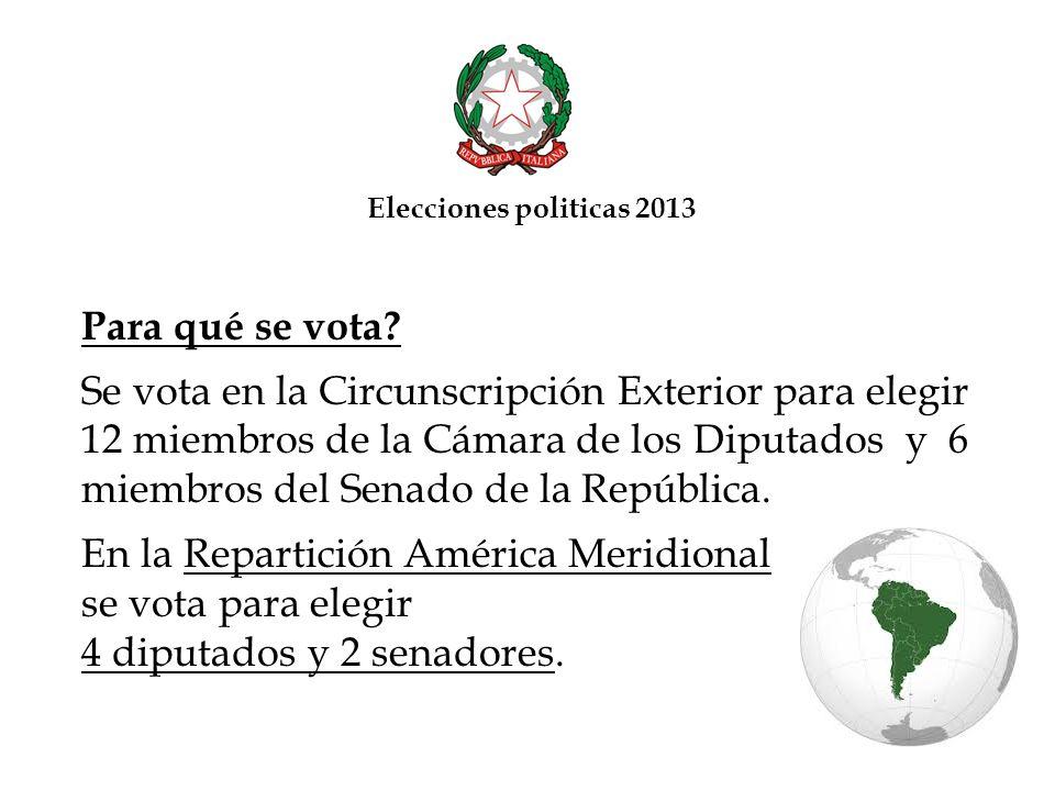En la Repartición América Meridional se vota para elegir