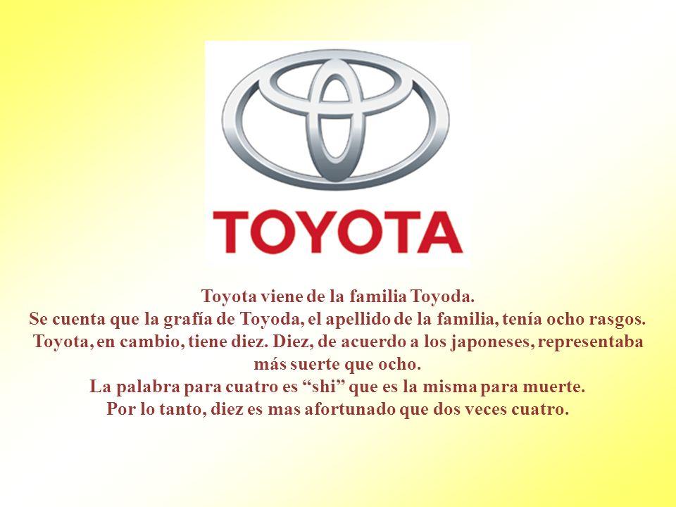 Toyota viene de la familia Toyoda.