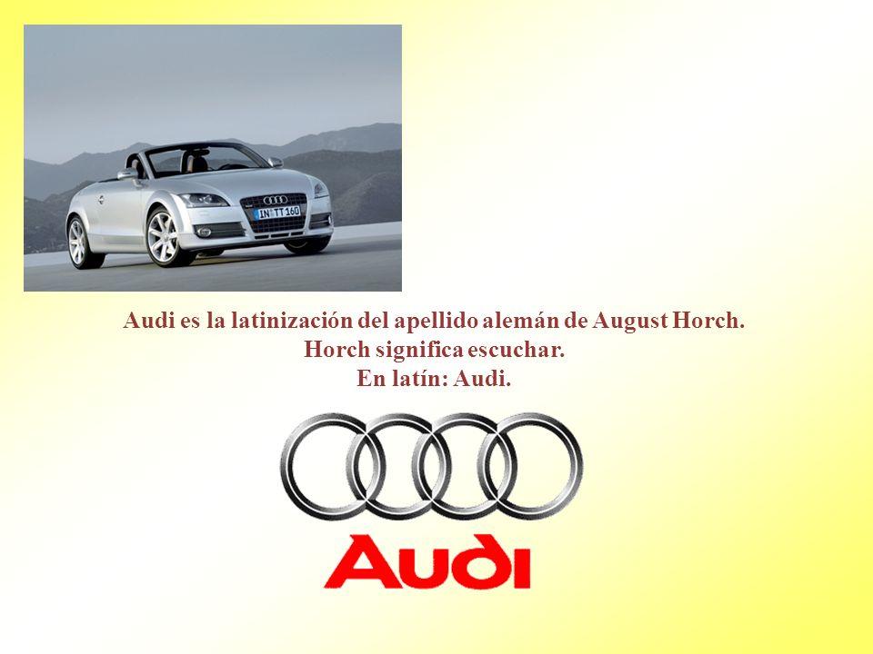 Audi es la latinización del apellido alemán de August Horch