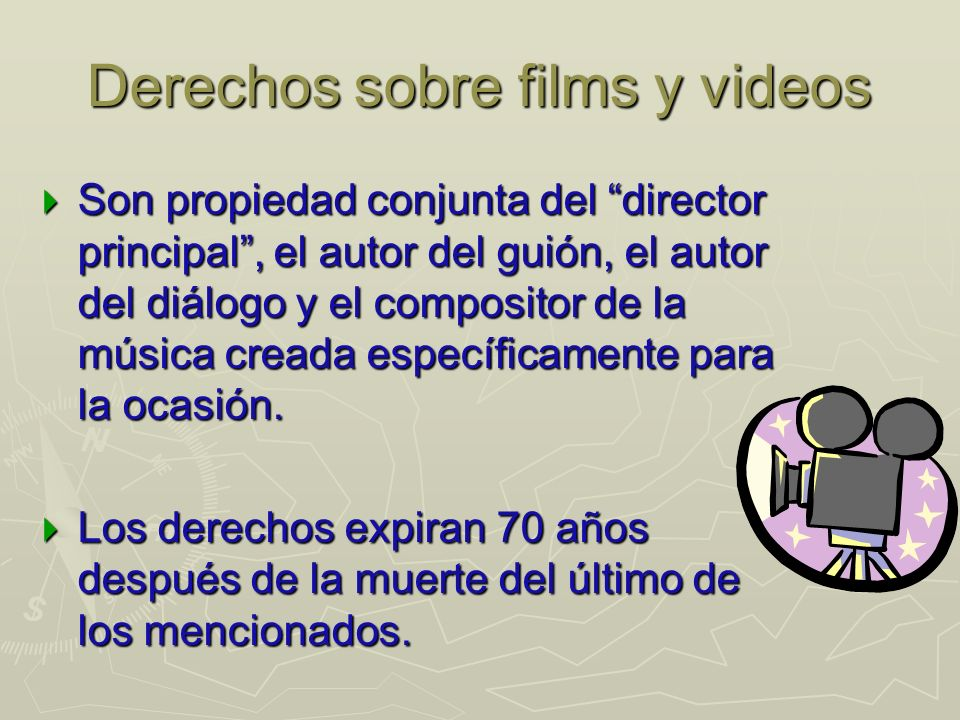 Derechos sobre films y videos