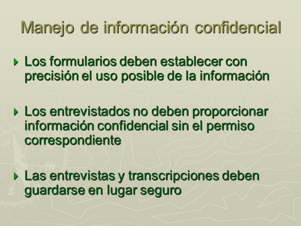 Manejo de información confidencial