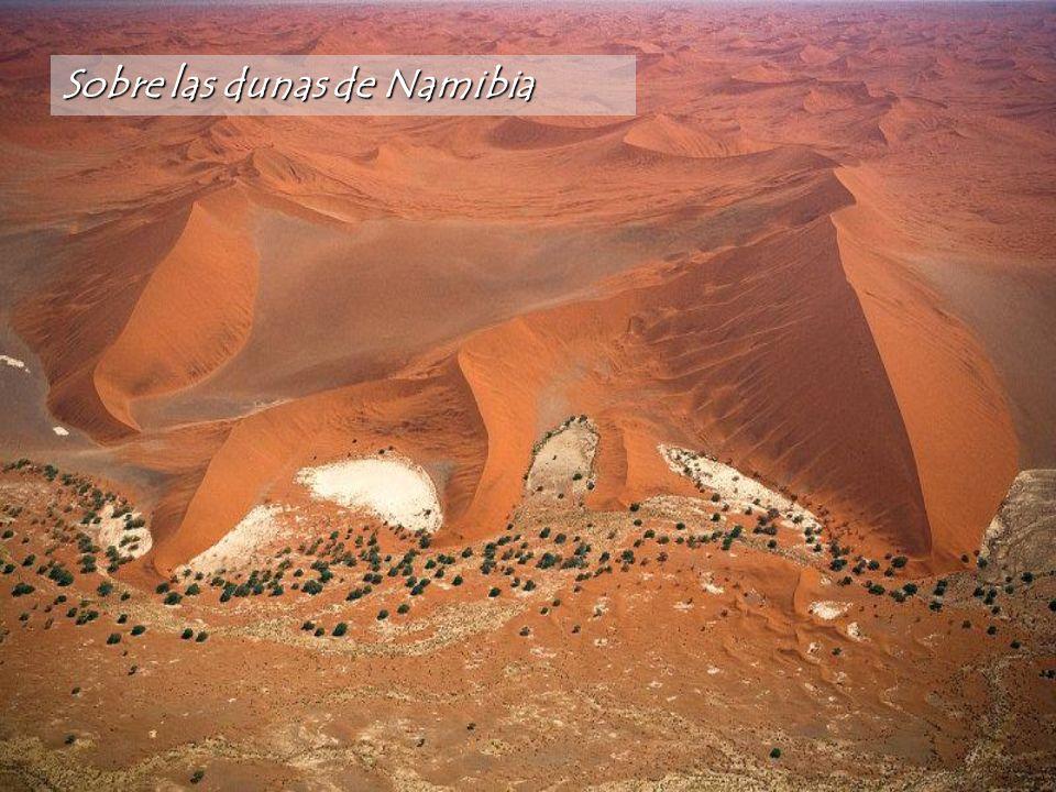 Sobre las dunas de Namibia