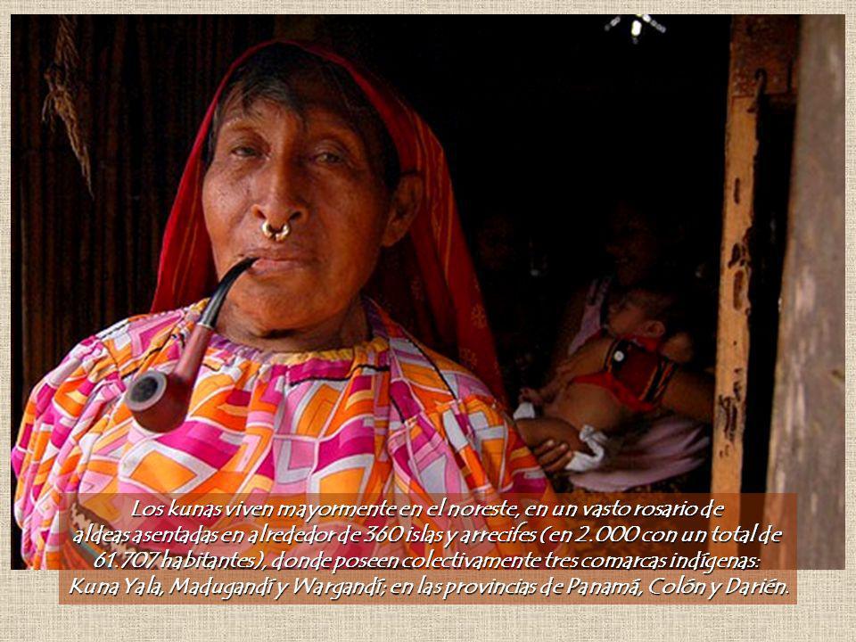 Los kunas viven mayormente en el noreste, en un vasto rosario de