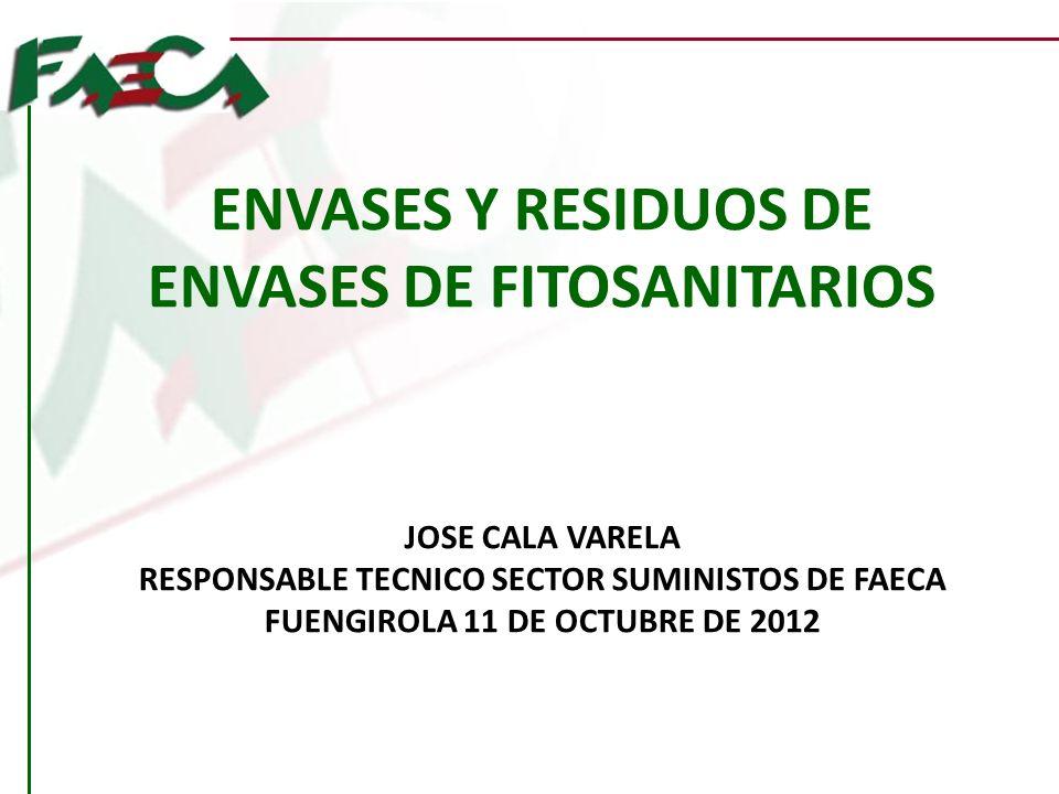 ENVASES Y RESIDUOS DE ENVASES DE FITOSANITARIOS