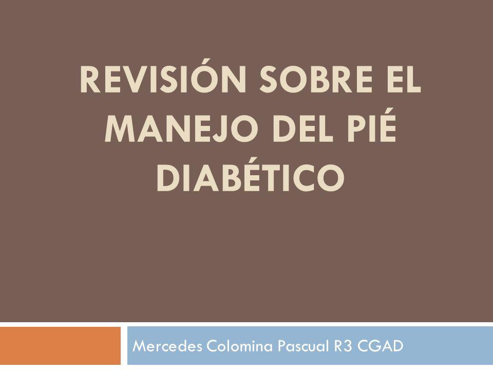 REVISIÓN SOBRE EL MANEJO DEL PIÉ DIABÉTICO