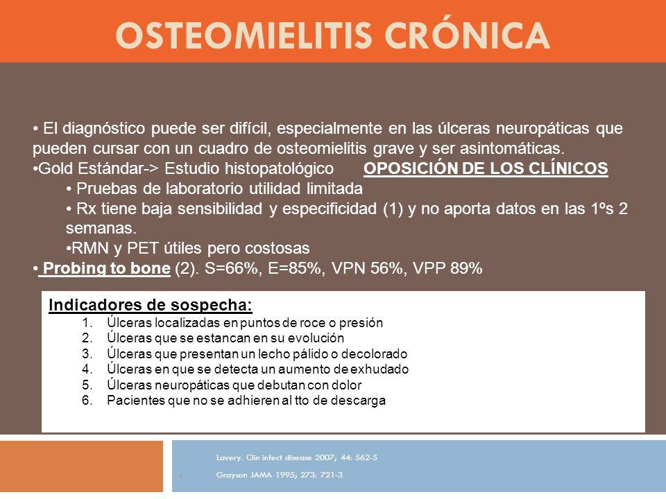 OSTEOMIELITIS CRÓNICA