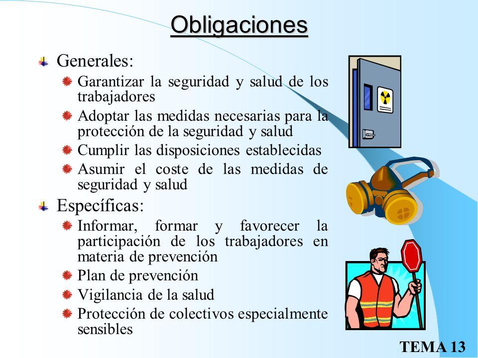 Obligaciones Generales: Específicas: