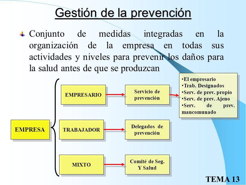 Gestión de la prevención