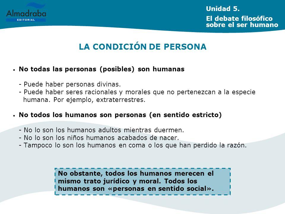 LA CONDICIÓN DE PERSONA
