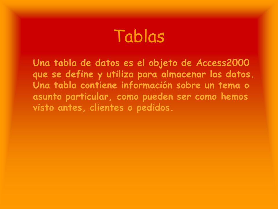Tablas