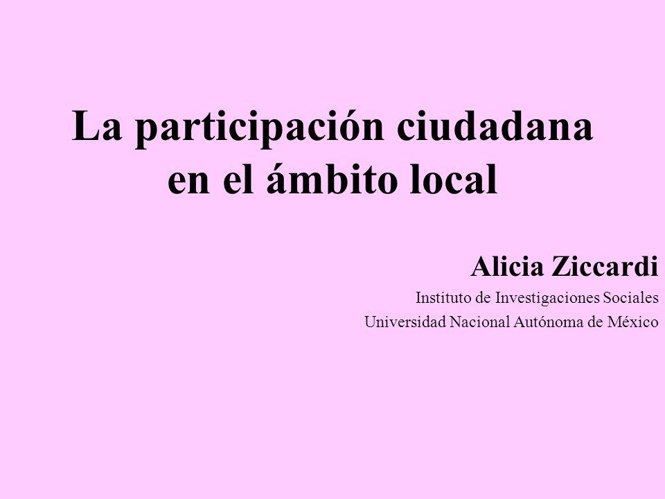 La participación ciudadana en el ámbito local