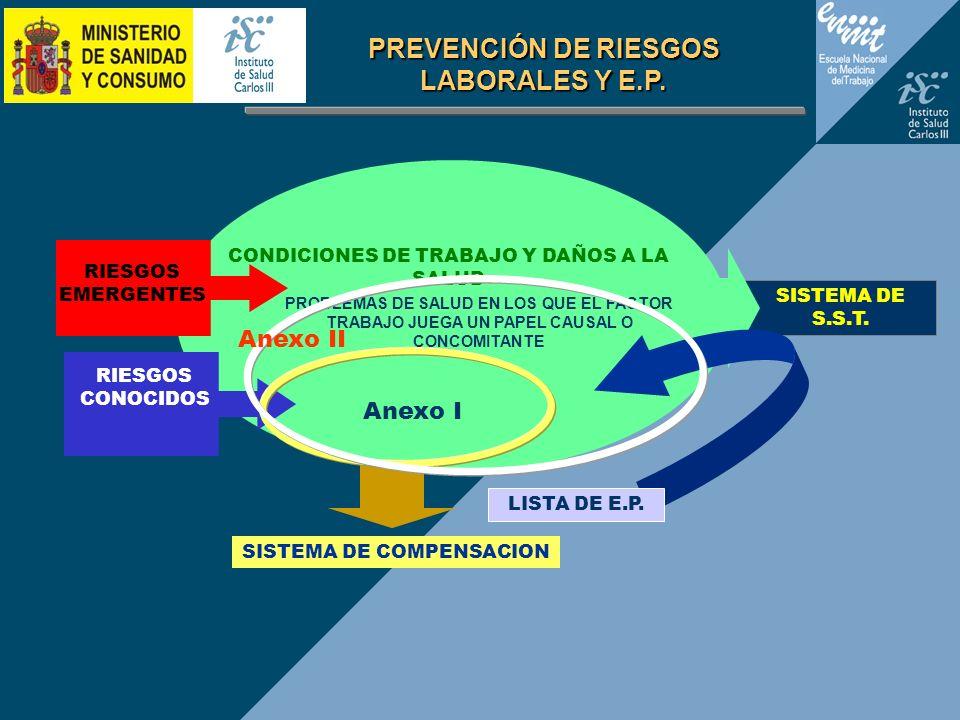 PREVENCIÓN DE RIESGOS LABORALES Y E.P.