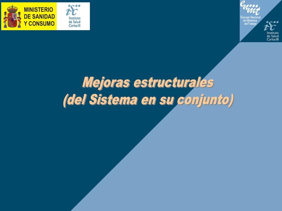 Mejoras estructurales (del Sistema en su conjunto)