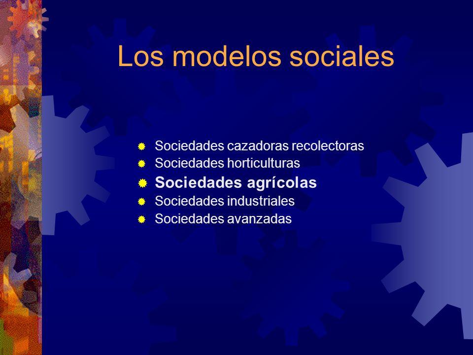Los modelos sociales Sociedades agrícolas