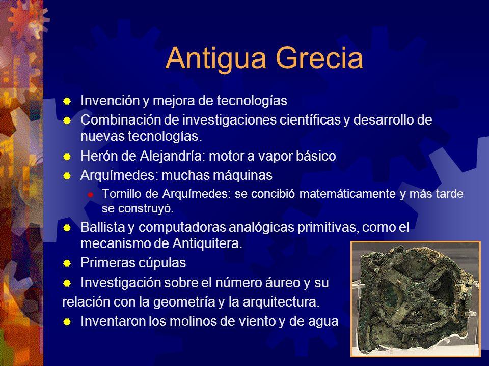 Antigua Grecia Invención y mejora de tecnologías