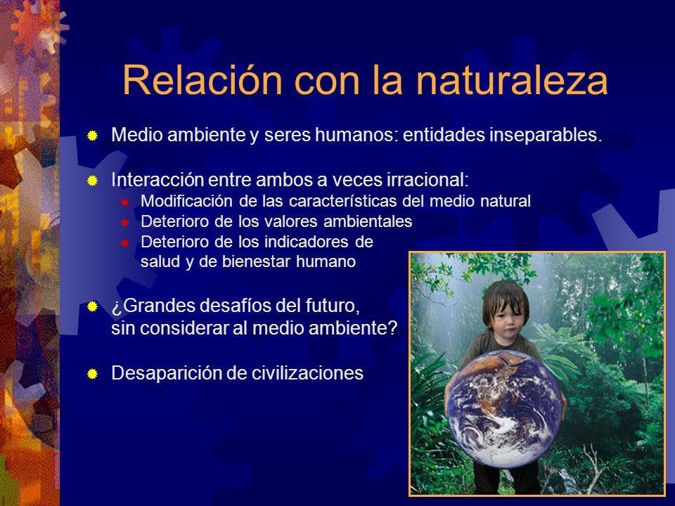 Relación con la naturaleza