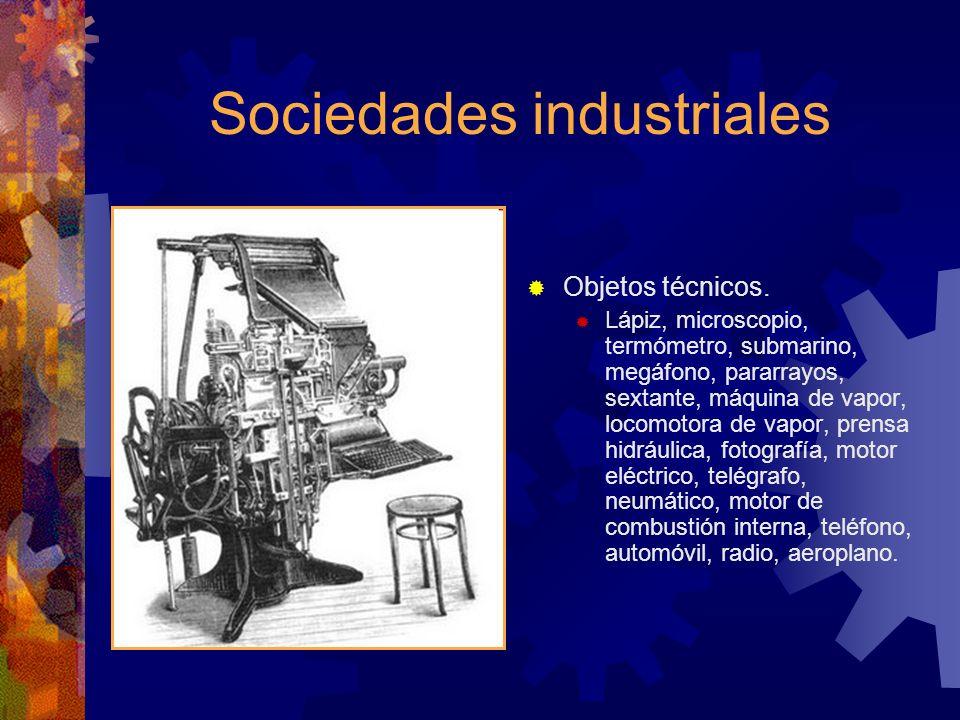Sociedades industriales