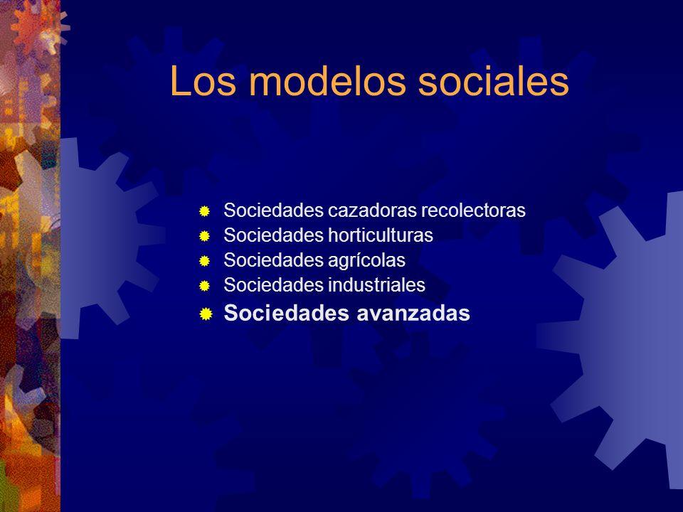 Los modelos sociales Sociedades avanzadas