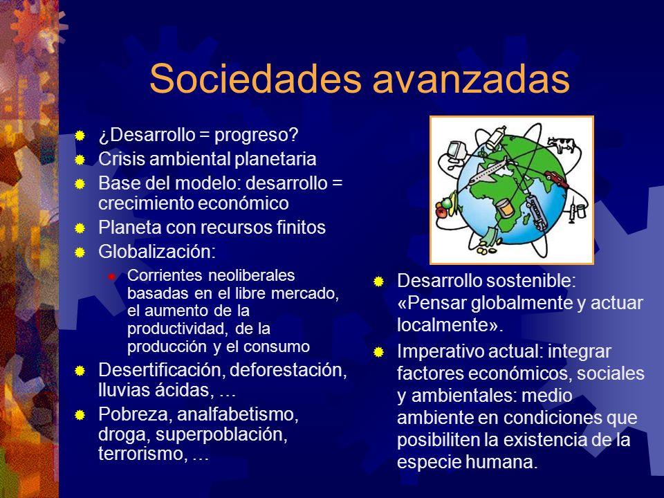 Sociedades avanzadas ¿Desarrollo = progreso