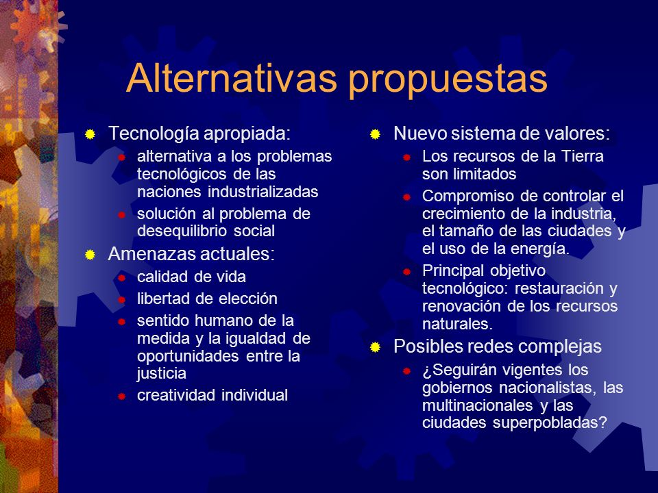 Alternativas propuestas