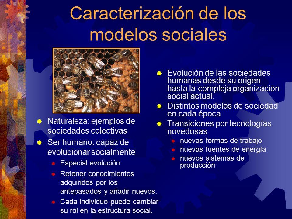 Caracterización de los modelos sociales
