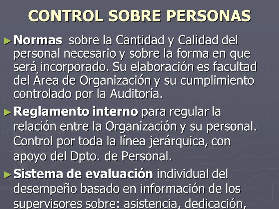 CONTROL SOBRE PERSONAS
