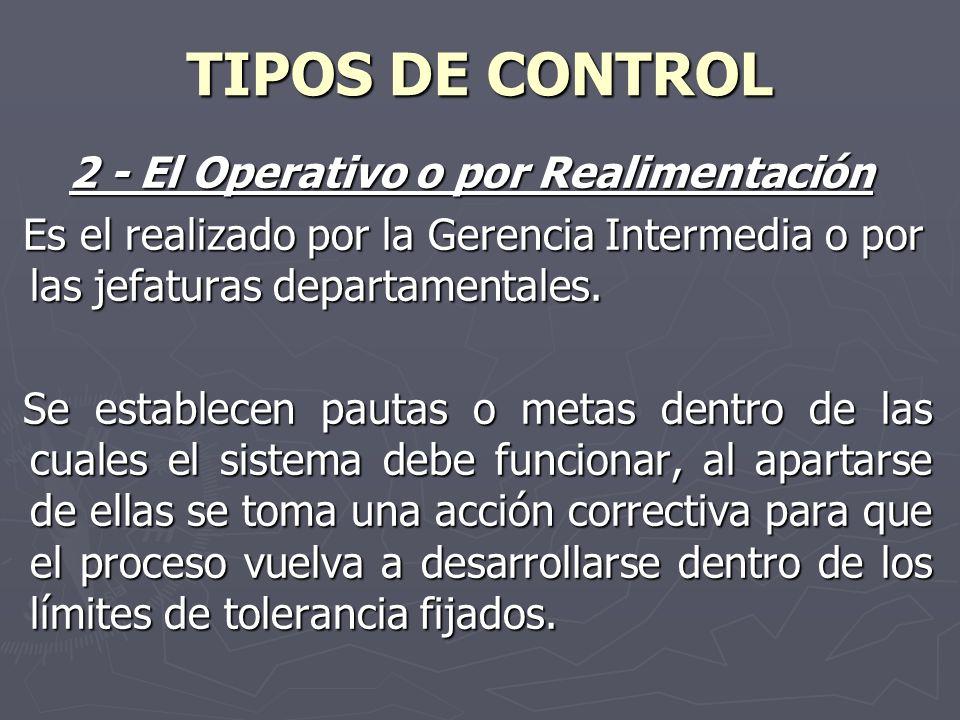 2 - El Operativo o por Realimentación