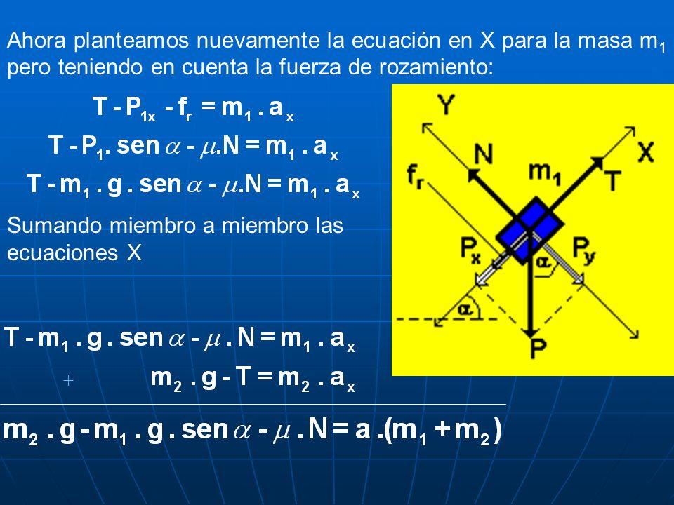 Sumando miembro a miembro las ecuaciones X