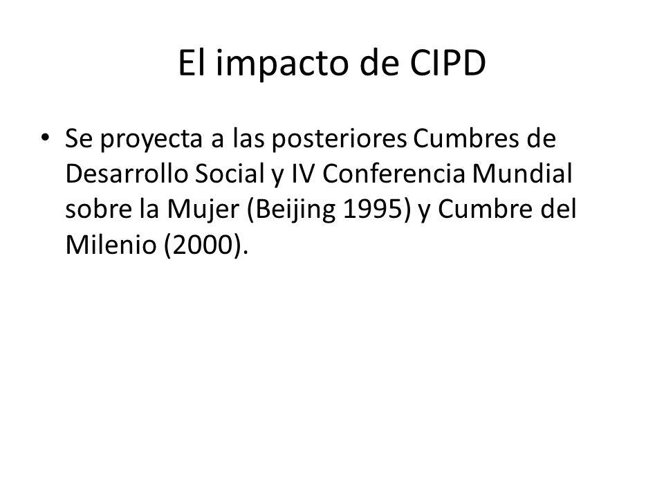 El impacto de CIPD