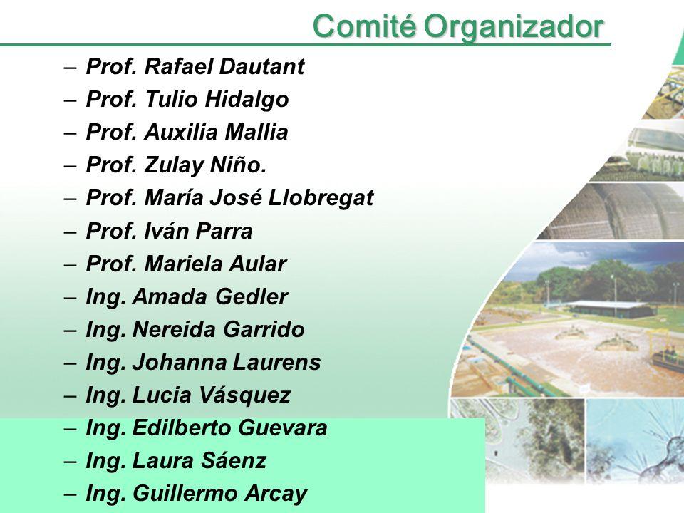 Comité Organizador Prof. Rafael Dautant Prof. Tulio Hidalgo