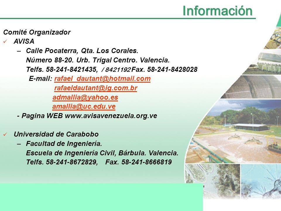 Información Comité Organizador AVISA
