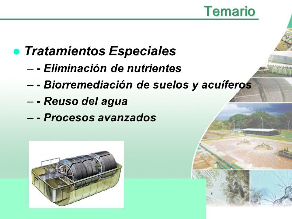 Temario Tratamientos Especiales - Eliminación de nutrientes