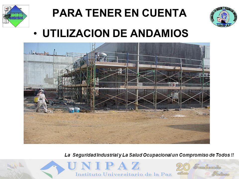 UTILIZACION DE ANDAMIOS