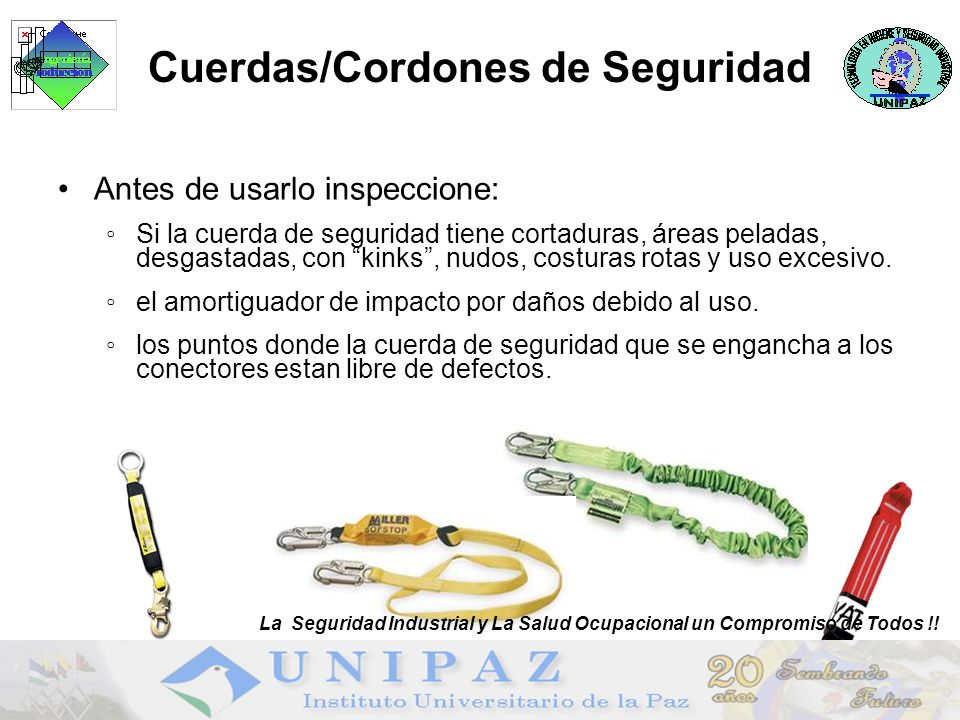 Cuerdas/Cordones de Seguridad