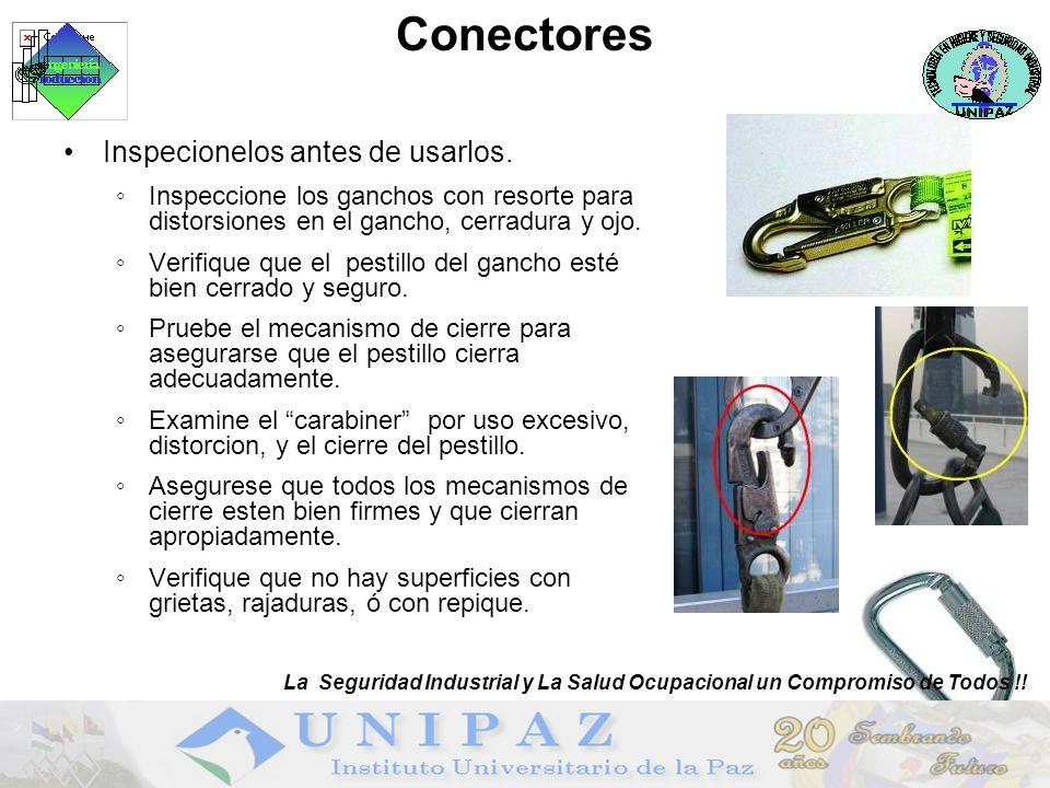 Conectores Inspecionelos antes de usarlos.