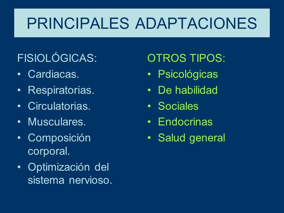 PRINCIPALES ADAPTACIONES