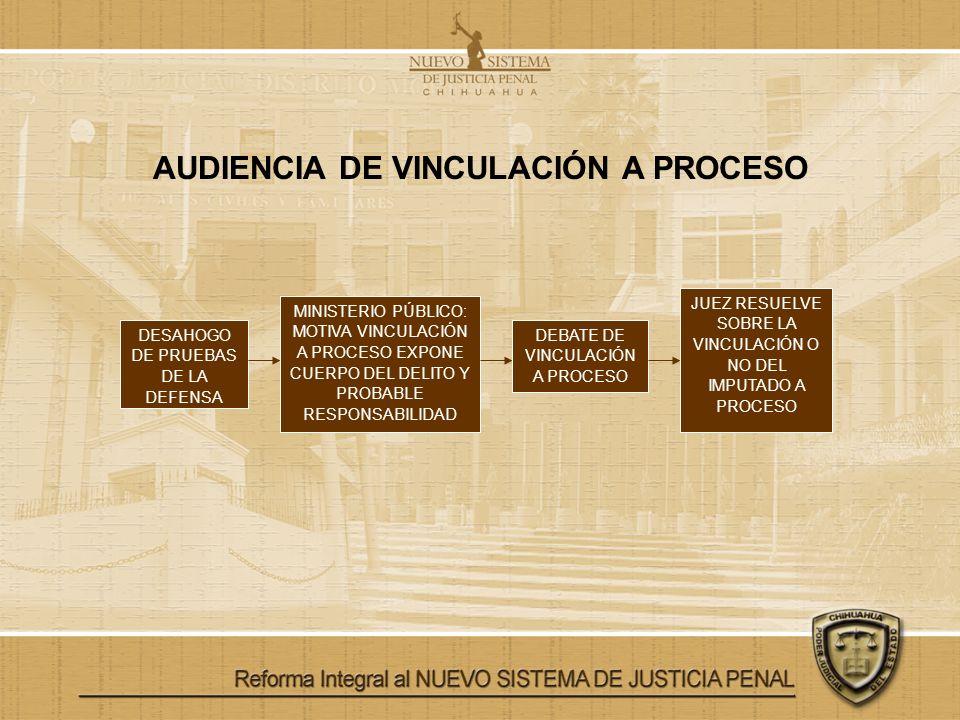 AUDIENCIA DE VINCULACIÓN A PROCESO