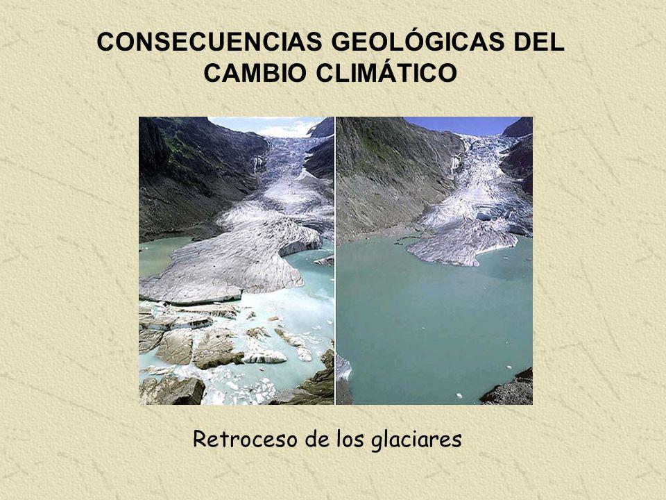 CONSECUENCIAS GEOLÓGICAS DEL CAMBIO CLIMÁTICO