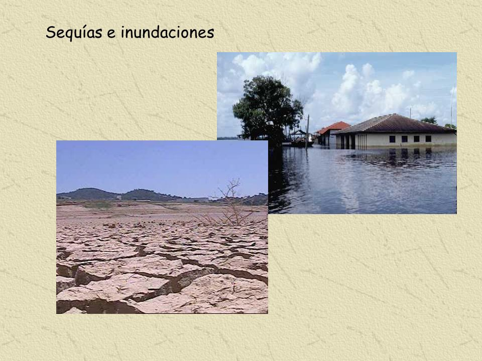 Sequías e inundaciones